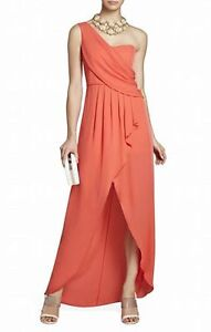 Size 12 BCBG Kali Draped One-Shoulder Gown