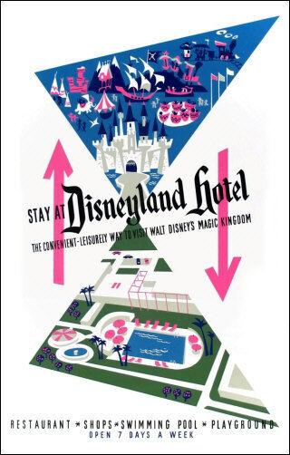 Disneyland Hotel Poster 11X17 Disney Anaheim