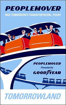 Disneyland Peoplemover Ride Poster Disney Tomorrowland - Buy Any 2 Get 1 Free