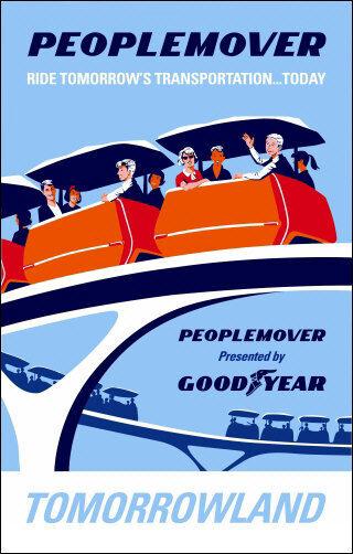 Disneyland Peoplemover Ride 11X17 Poster Disney Tomorrowland