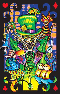 MAD HATTER COLLAGE - BLACKLIGHT POSTER - 24X36 FLOCKED FANTASY 51965