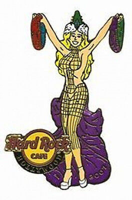 Harte Rock Cafe Hollywood 2007 Mardi Gras Pin Sexy Blond Mädchen mit Perlen #