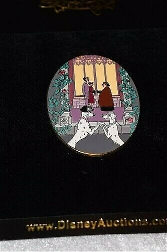 LE Disney Auctions P.I.N.S. Pongo & Perdita 101 Dalmatians Wedding Roger & Anita