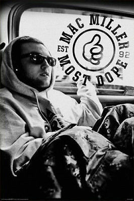 MAC MILLER - MOST DOPE POSTER - 24x36 SHRINK WRAPPED - MUSIC