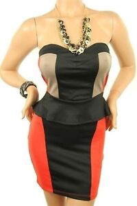 Classy 2 tone dress in organge or blue price reduced!