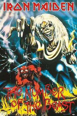IRON MAIDEN - NUMBER OF THE BEAST MUSIC POSTER - 24x36 SHRINK WRAPPED - 3169