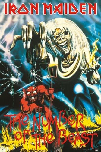 IRON MAIDEN - NUMBER OF THE BEAST MUSIC POSTER - 24x36 - 50986