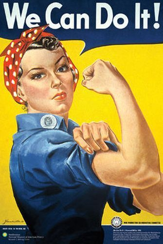ROSIE THE RIVETER - VINTAGE POSTER 24x36 WE CAN DO IT WAR ADS 241284