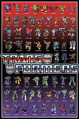 TRANSFORMERS - CHARACTERS POSTER - 24x36 AUTOBOTS DECEPTICONS 7165