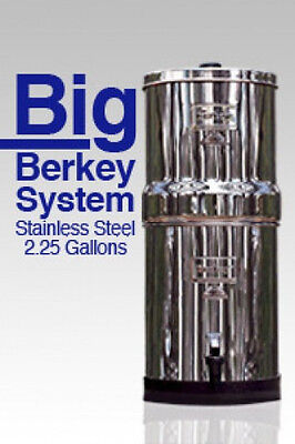 "Big Berkey Seep System w/ 2 Black Berkey Elements & 7.5"" Water Level View"