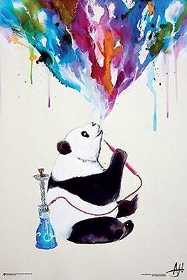 CHAI - WATERCOLOR PANDA ART POSTER - 24x36 HOOKAH SMOKING ALLANTE 10800