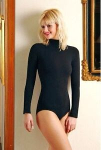 BODYSUIT-STRETCH-TURTLENECK-L-SLEEVE-ALL-COLOUR-SIZES