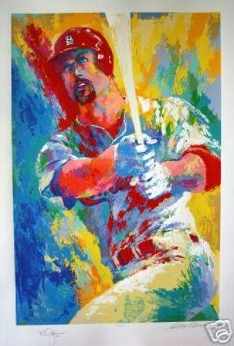 "LeRoy Neiman Dble Sign/# ""Mark McGwire"" St.Louis Cardinals baseball player serig"