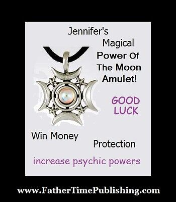 Power of the Moon Magical Good Luck Amulet Love Money Protection Psychic Powers