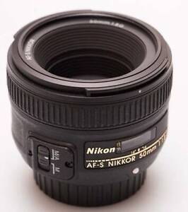 Nikon AFS 50 mm 1.8 G nifty fifty Lens in excellent condition