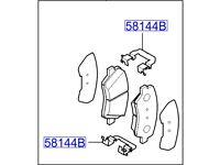 Hyundai i30 Front Brake Pads 58101A6A20
