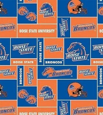 College Boise State University BSU Broncos Team Fleece Fabric Print -