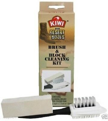 Kiwi for Desert Boots Suede Nubuck Brush and Block Cleaning Kit 27710