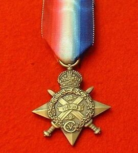 World-War-1-1914-Star-Full-Size-Medal-Mons-Star-Medals