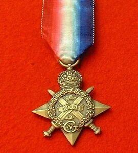 World War 1 1914 Star Full Size Medal Mons Star Medals
