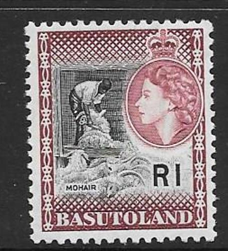 BASUTOLAND SG79 1963 BLACK & MAROON  MTD MINT