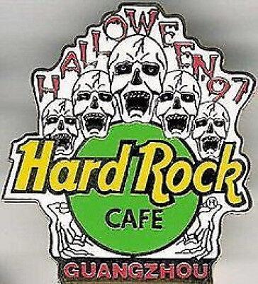 Hard Rock Cafe GUANGZHOU 1997 HALLOWEEN PIN 5 Screaming SKULLS HRC Catalog #2729](Guangzhou Halloween)