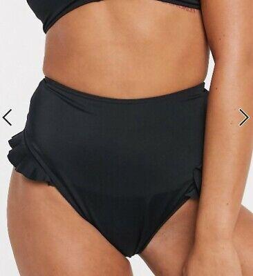 Asos Design Damen Bikini Unterteil Slip High Waist schwarz Gr.36
