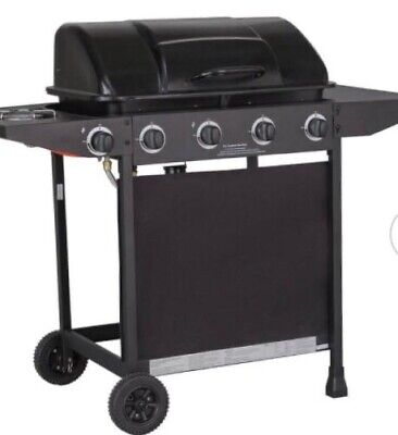BBQ Gas 4 Side Burner Barbecues Charcoal Party Grill Cooking Garden Outdoor