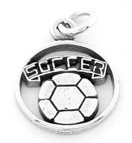 925 SILVER 12PC SOCCER BALL CUT OUT CHARM WHOLESALE