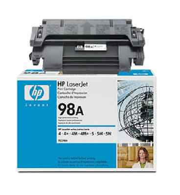 Laserjet 4 4m (Original HP Toner Laserjet 4 4+ 4M 5 5N 5M / 92298A 98A Cartridge NEW - OVP)