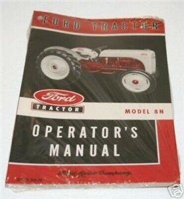 Ford 8n Tractor Owners Operators Manual Book