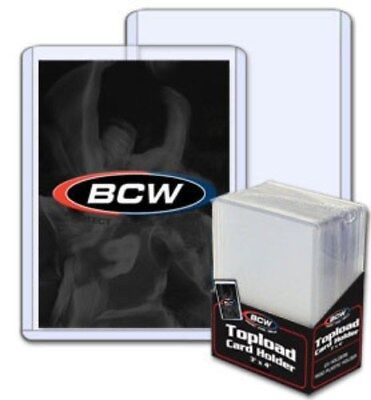 100 BCW Trading Card Hard Plastic Topload Holders + 100 Soft Poly Penny Sleeves