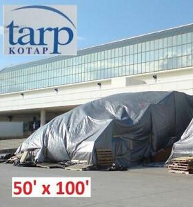 NEW KOTAP 50' x 100' POLY TARP TRS-50100 182204596 CROSS WEAVE UV BLOCKING HEAVY-DUTY