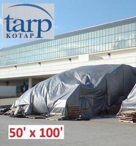 NEW KOTAP 50' x 100' POLY TARP TRS-50100 182204596 CROSS WEAVE UV BLOCKING HEAVY-DUTY