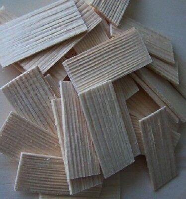 100 St. Dachschindel aus Fichtenholz. Krippenbau, Modellbau. 55x22-25 mm. gebraucht kaufen  Bad Berneck