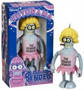 Futurama-Gender-Bender-Tin-Wind-Up-Robot-New-in-Box
