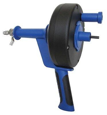 14 X 25 Pistol Grip Drum Auger Drain Snake W Drill Attachment - New