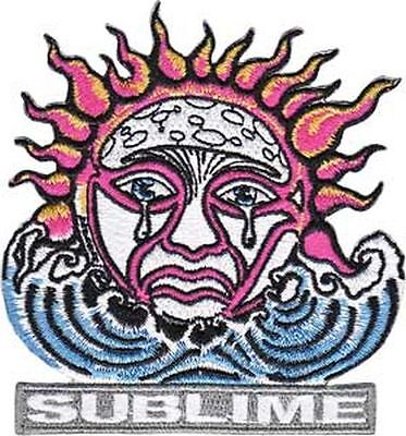 SUBLIME - WEEPING SUN - EMBROIDERED PATCH - BRAND NEW - MUSIC BAND 4095
