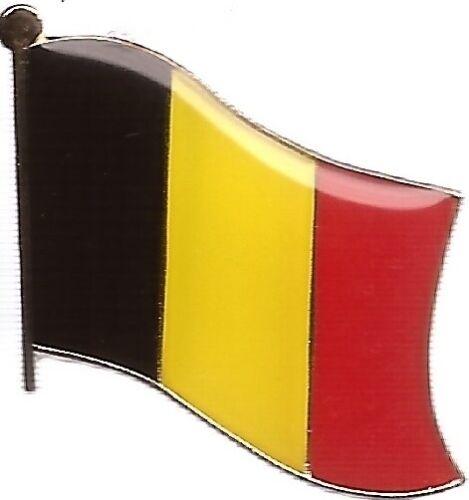 LOT OF 12 Belgian Flag Lapel Pins - Belgium Flag Pin