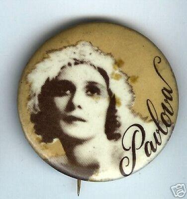 old PAVLOVA pin BALLET dance dancer BALLERINA