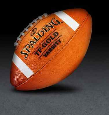 Spalding Leather Football TF Gold Varsity NFHS Full Size Premium Ball SUPER SALE