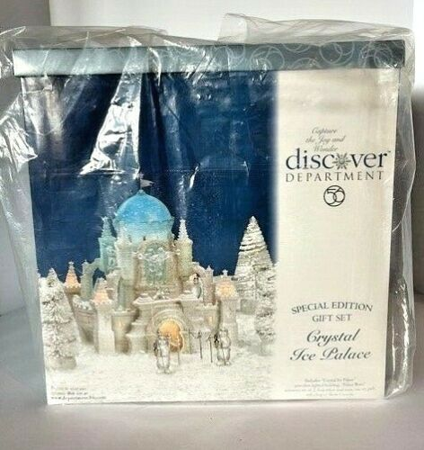 Never Opened Dept 56 Crystal Ice Palace Special Edition Gift Set 56.58922