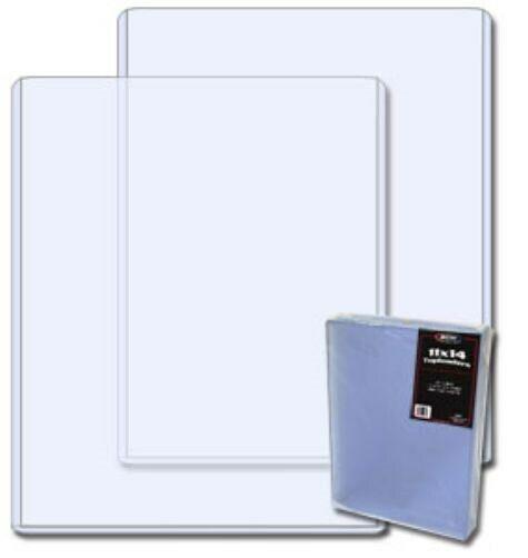 Case / 100 BCW 11 x 14 Hard Plastic Topload Holders 11x14 rigid protector sleeve