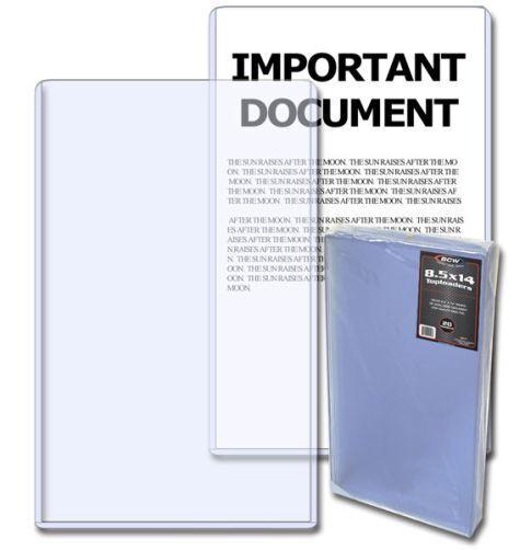 40 BCW 8.5 x 14 Legal Document / Photo Hard Plastic Topload Holders protectors