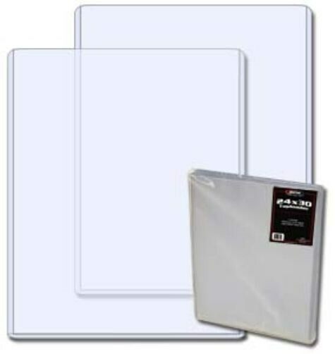 Case 25 BCW 24 x 30 Hard Plastic Topload Print / Poster Holders toploaders 24x30