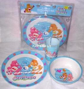 ~ Care Bears - DINNER SET (Plate, Cup, Bowl)