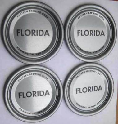 4 Florida Eastern Brewing Corp  Hammonton  New Jersey Vanity Lids 4 Ss Beer Cans