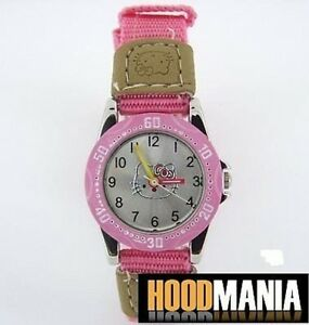 ❤ Childs / Childrens Pink Hello Kitty Tell - Learn the Time Wrist Watch ❤