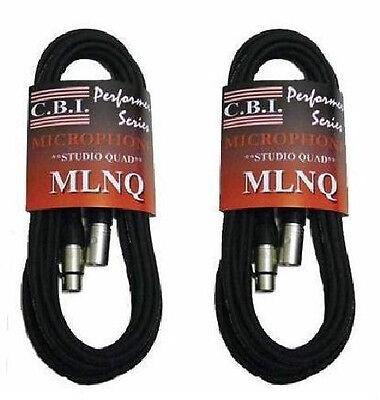 (2) 10' CBI Studio Quad Mic Cables XLR BEST