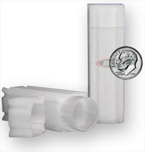 Lot of 10 Coin Safe Square Coin Tubes - Dime Size protectors tube holders